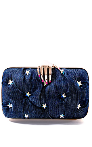 Medium benedetta bruzziches blue benedetta bruzziches carmen with hand stars clutch
