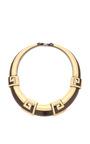 Carole Tanenbaum 1980's Monet Collar Necklace In Cream by CAROLE TANENBAUM for Preorder on Moda Operandi