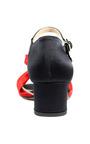 Andrea Incontri Black And Red Satin Bow Sandals by ANDREA INCONTRI for Preorder on Moda Operandi
