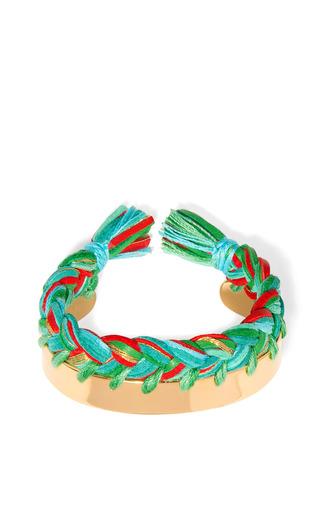 Medium aurelie bidermann multi copacabana leather braided bracelet