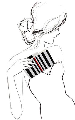 Black & White Clutch by URANIA GAZELLI for Preorder on Moda Operandi