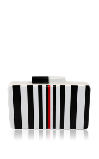 Medium urania gazelli multi black white clutch