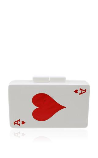 Medium urania gazelli multi double sided jack of hearts clutch and ace of hearts
