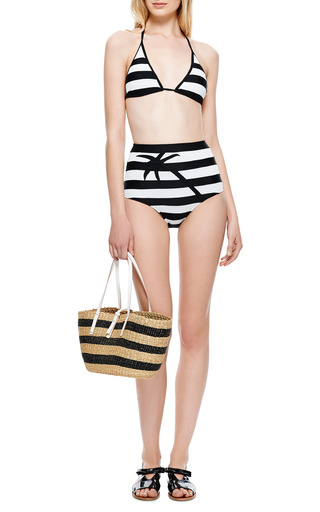 M'o Exclusive: Striped High Waisted Bikini by ADRIANA DEGREAS Now Available on Moda Operandi