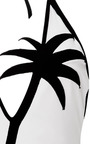 M'o Exclusive: Coconut Tree Halter Neck Swimsuit by ADRIANA DEGREAS Now Available on Moda Operandi