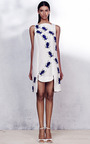 White Silk Linen Swarm Dress by AZEDE JEAN-PIERRE for Preorder on Moda Operandi