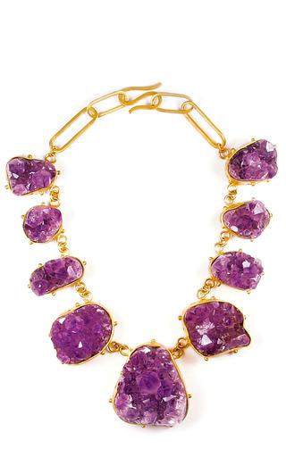 Medium paula mendoza purple one of a kind gales necklace
