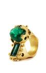 Silvia Raw Emeralds Ring by PAULA MENDOZA for Preorder on Moda Operandi