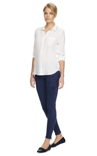 Cargo Pocket Twill Pants by CURRENT/ELLIOTT Now Available on Moda Operandi