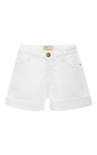 Medium current elliott white the boyfriend rolled shorts