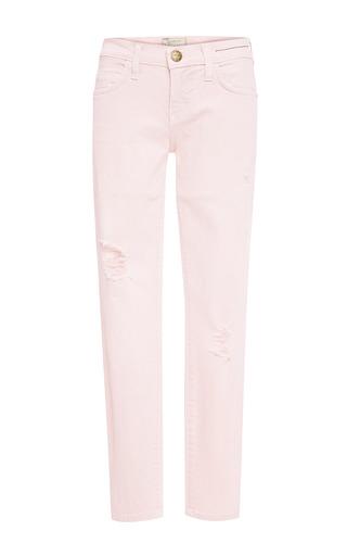 Medium current elliott pink the stiletto distressed jeans