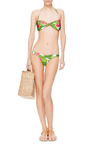 Knotted Bandeau Halterneck Bikini by ISOLDA Now Available on Moda Operandi