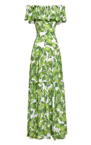 Printed Silk Chiffon Dress by ISOLDA Now Available on Moda Operandi