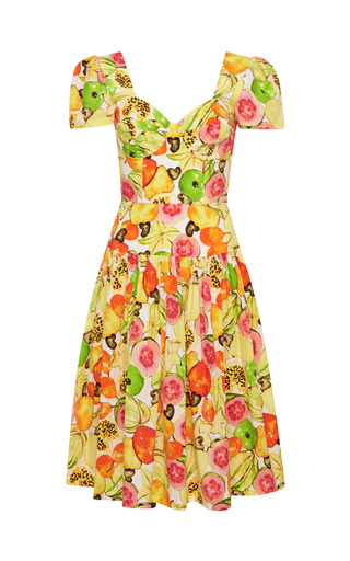Medium isolda multi printed cotton poplin dress