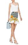 Printed Woven Cotton Mini Skirt by ISOLDA Now Available on Moda Operandi