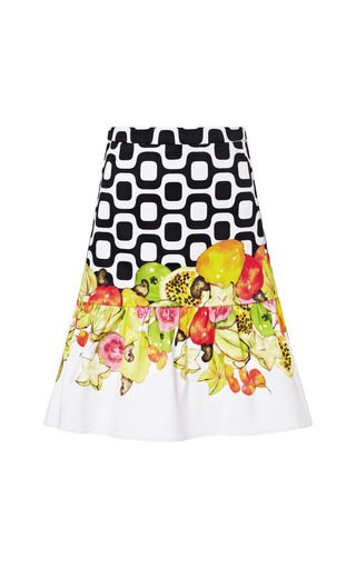 Medium isolda multi printed woven cotton mini skirt