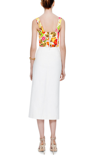Printed Stretch Cotton Cropped Top by ISOLDA Now Available on Moda Operandi