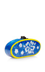 Edie Hibiscus Acrylic Clutch by EDIE PARKER Now Available on Moda Operandi