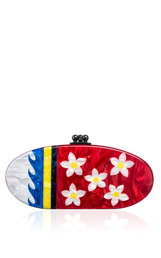 Edie Paradise Acrylic Clutch by EDIE PARKER Now Available on Moda Operandi