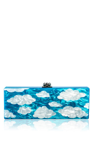 Medium edie parker multi flavia sky acrylic clutch