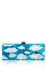 Flavia Sky Acrylic Clutch by EDIE PARKER Now Available on Moda Operandi