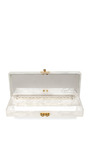 Flavia Palms Pearlescent Acrylic Clutch by EDIE PARKER Now Available on Moda Operandi
