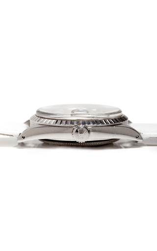 Vintage Stainless Steel Rolex Oyster Perpetual Datejust by CMT FINE WATCH AND JEWELRY ADVISORS Now Available on Moda Operandi