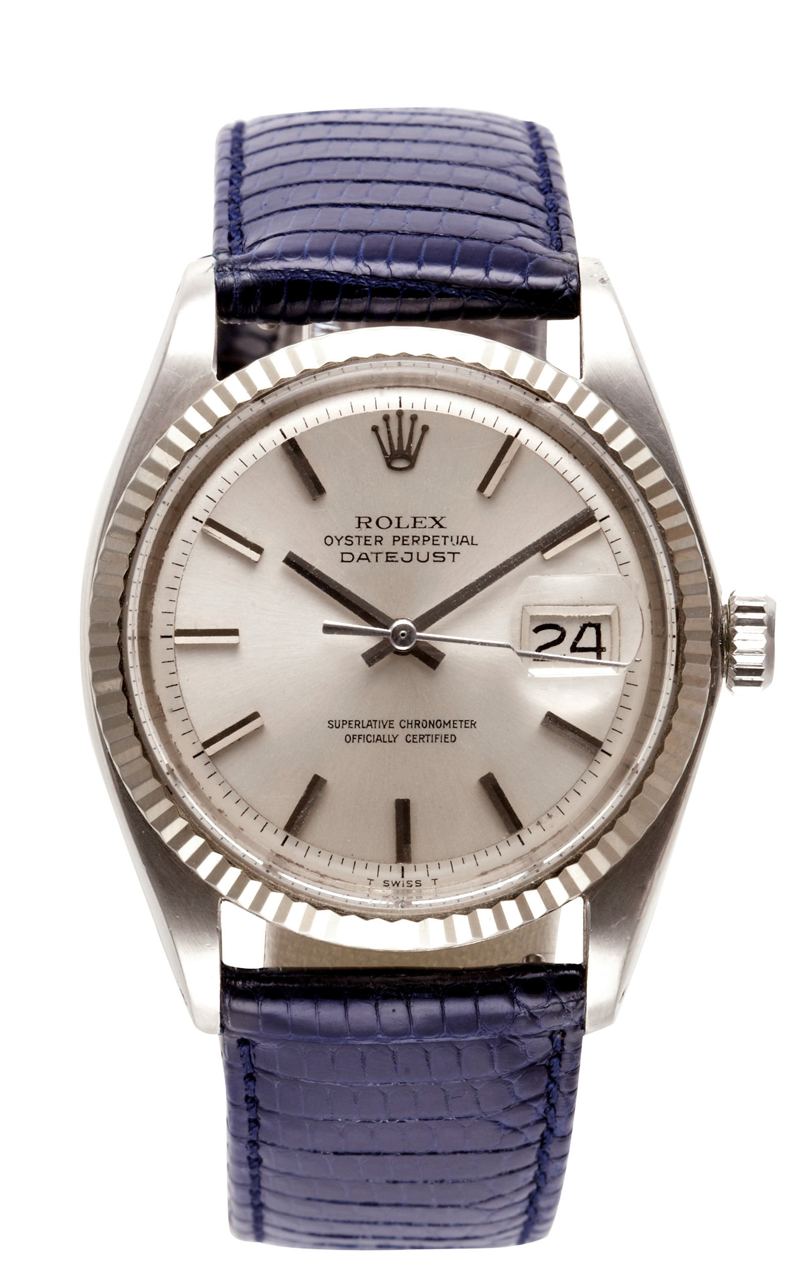 Vintage Stainless Steel And 18k White Gold Rolex Moda