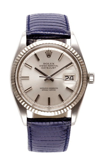 Medium vintage rolex watches blue vintage stainless steel and 18k white gold rolex oyster perpetual datejust