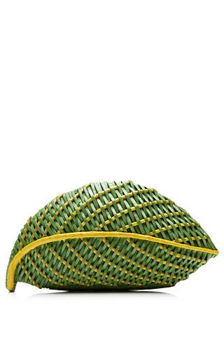Medium nancy gonzalez green green palm leaf clutch