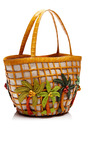 Palm Tree Mini Tote With Charm by NANCY GONZALEZ for Preorder on Moda Operandi