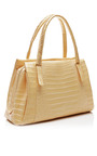 Pale Yellow Tote With Palm Charm by NANCY GONZALEZ for Preorder on Moda Operandi