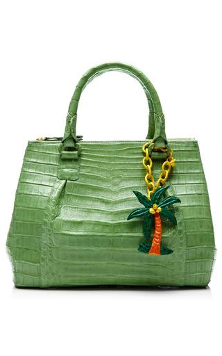 Medium nancy gonzalez green green crocodile handbag