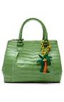 Green Crocodile Handbag by NANCY GONZALEZ for Preorder on Moda Operandi