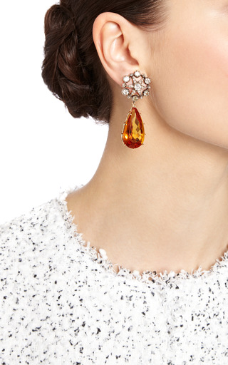 Antique 2 In 1 Citrine And Diamond Earrings by SIMON TEAKLE for Preorder on Moda Operandi