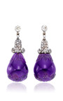 Antique Carved Amethyst Earrings by SIMON TEAKLE for Preorder on Moda Operandi