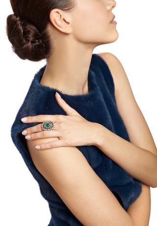 Antique Emerald And Diamond Ring by SIMON TEAKLE for Preorder on Moda Operandi