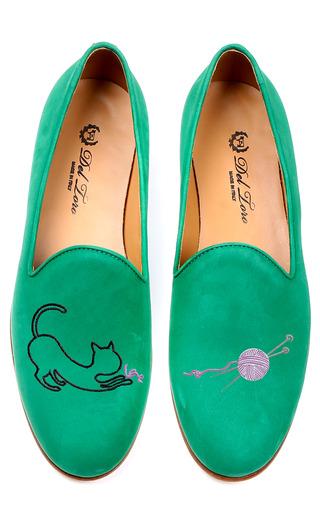 Medium del toro green cat and yarn loafer