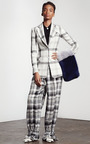 Plaid Linen Weave Blazer by HARBISON for Preorder on Moda Operandi