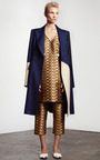 Linenweave Arched Overcoat by HARBISON for Preorder on Moda Operandi