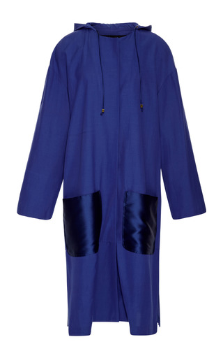 Medium harbison blue klein blue cotton twill raincoat