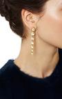 One Of A Kind 18 Karat Single Strand Rock Crystal Earrings by MADHURI PARSON for Preorder on Moda Operandi
