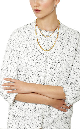 One Of A Kind Diamond Cut Yellow Gold Ball Drops Short Necklace by MADHURI PARSON for Preorder on Moda Operandi
