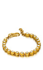 One Of A Kind Rock Crystal Oval Bracelet by MADHURI PARSON for Preorder on Moda Operandi