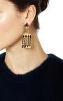 One Of A Kind Waterfall Diamond & Enamel Chandelier Earrings by MADHURI PARSON for Preorder on Moda Operandi