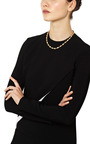 One Of A Kind Rhodolite, Rock Crystal, Diamond Single Strand Necklace by MADHURI PARSON for Preorder on Moda Operandi