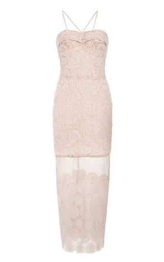 Ivory Lace And Organza Dress by RUBAN for Preorder on Moda Operandi