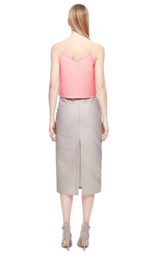 Pink Quilted Silk Tank Top by RUBAN for Preorder on Moda Operandi