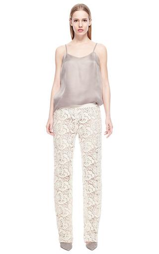 Light Grey Silk Tank by RUBAN for Preorder on Moda Operandi