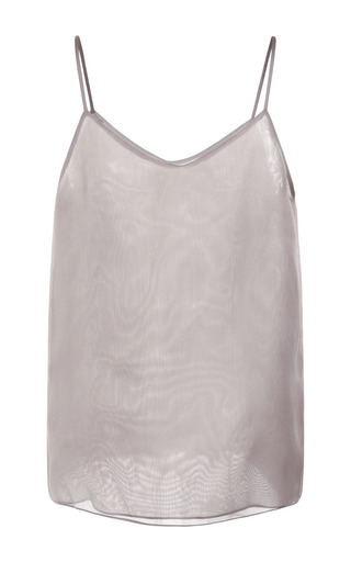 Medium ruban dark grey light grey silk tank